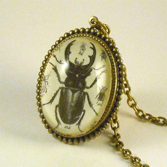 Insect necklaces bug jewelry beetles moths ants scorpion beetle juice deluxe necklace aloadofball Choice Image